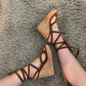 GUESS Cork Wedge